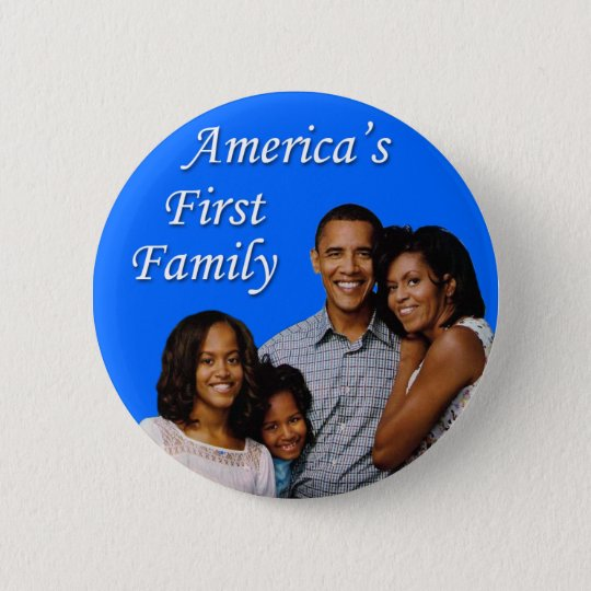 The Obamas: America's First Family 6 Cm Round Badge