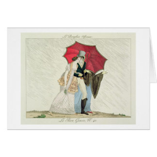 The Obliging Umbrella, plate 40 from 'Le Bon Genre Greeting Card