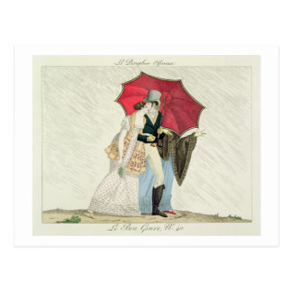 The Obliging Umbrella, plate 40 from 'Le Bon Genre Postcard