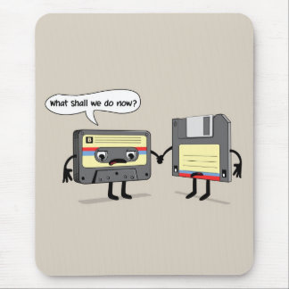 The Obsoletes (Retro Floppy Disk Cassette Tape) Mouse Mat