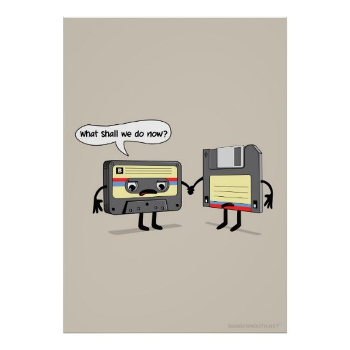 The Obsoletes (Retro Floppy Disk Cassette Tape) Posters