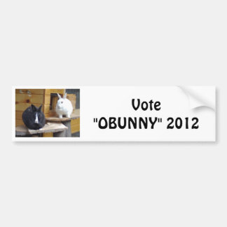"The ""OBunny"" Camp Car Bumper Sticker"