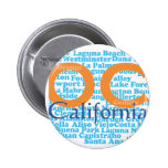 The OC - Orange County, California Pinback Button