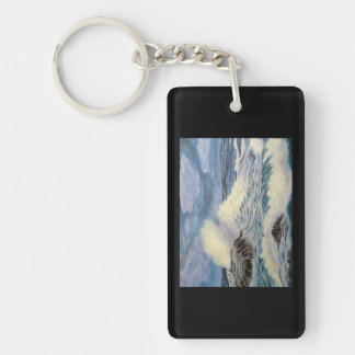 The Ocean - A Force of Nature Double-Sided Rectangular Acrylic Key Ring