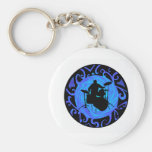 THE OCEAN DRUMS BASIC ROUND BUTTON KEY RING