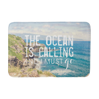 The Ocean is Calling - Maui Coast | Bath Mat Bath Mats