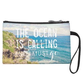 The Ocean is Calling - Maui Coast | Clutch Wristlet Clutches
