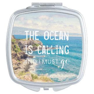 The Ocean is Calling - Maui Coast   Compact Mirror