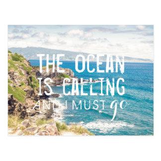 The Ocean is Calling - Maui Coast | Postcard