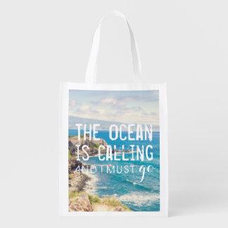 The Ocean is Calling - Maui Coast   Reusable Bag