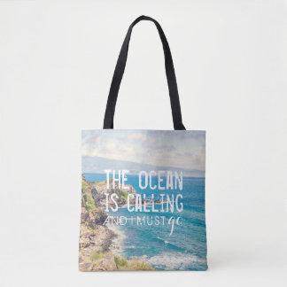 The Ocean is Calling - Maui Coast   Whole Tote Bag