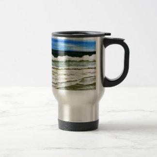 The Ocean s Elegance - Ocean Surf Beach Art Coffee Mugs