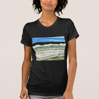 The Ocean s Elegance - Ocean Surf Beach Art Tshirts