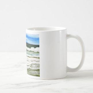 The Ocean's Elegance - Ocean Surf Beach Art Basic White Mug