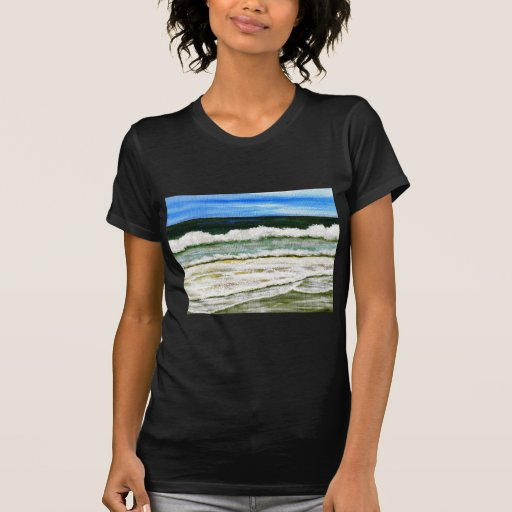 The Ocean's Elegance - Ocean Surf Beach Art Tshirts