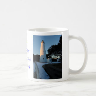 The Ocracoke Lighthouse at Sunset Coffee Mug