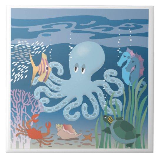 The Octopus large ceramic tile