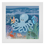 The Octopus Poster 25x25