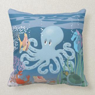 The Octopus Throw Pillow 20x20