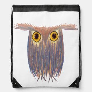 The Odd Owl Drawstring Backpack