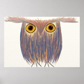 The Odd Owl Print