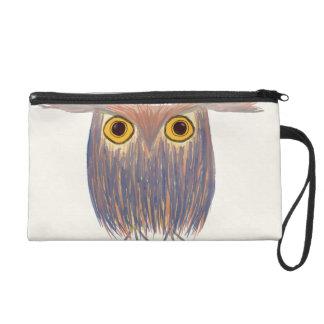 The Odd Owl ~ Watercolors Wristlet Purses