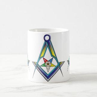 The OES Freemason Basic White Mug