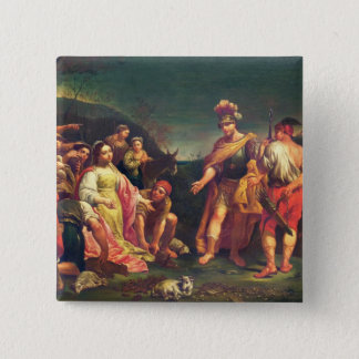 The Offering of Abigail before David 15 Cm Square Badge