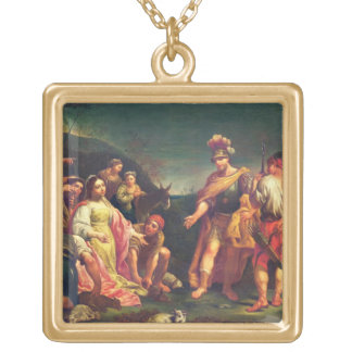 The Offering of Abigail before David Gold Plated Necklace