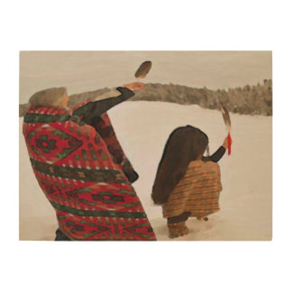 The Offering Wooden Wall Piece Wood Canvas