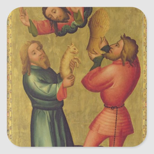 The Offerings of Cain and Abel Square Stickers