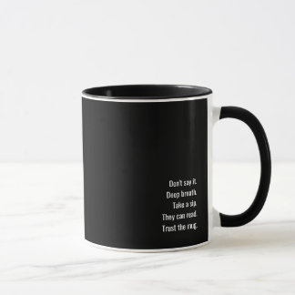 The office argument-stopper mug, righty edition. mug