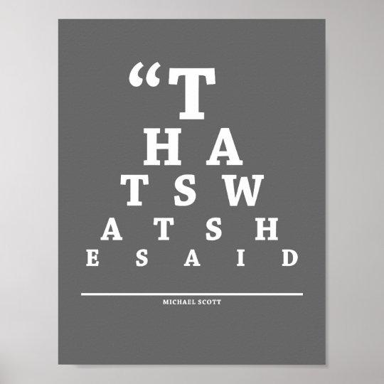 The Office, Eye Exam Chart