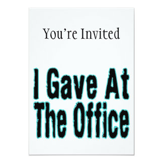 The Office 5x7 Paper Invitation Card