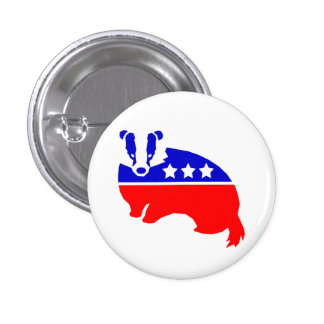 The OFFICIAL Decency Party TM Badger Button