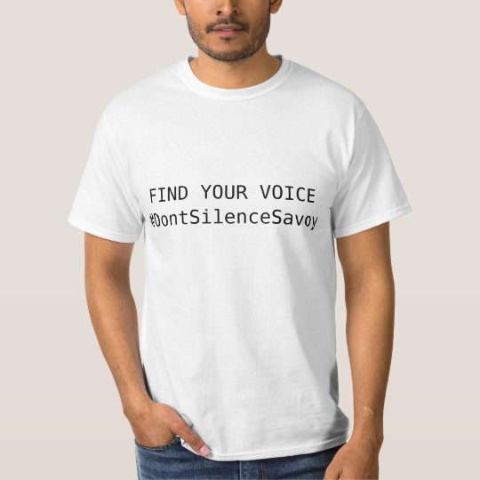 The Official DON'T SILENCE SEAN SAVOY Shirt! T-Shirt