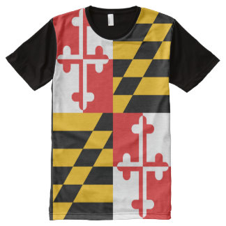 The official flag of the state of Maryland All-Over Print T-Shirt