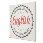 The Official Language Stretched Canvas Print