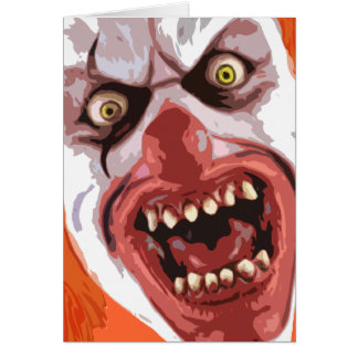 The Official Macabre Clown - Mr. Creepy- Greeting Card
