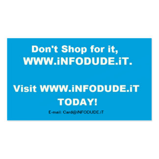 The Official WWW.iNFODUDE.iT Business Card!