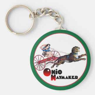 The Ohio Haymaker Basic Round Button Key Ring