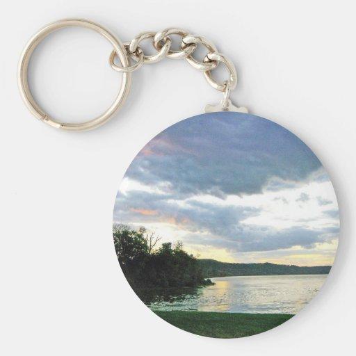 The Ohio River Valley Sunrise Key Chain