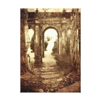The Old Archway #2 (Shabby Vintage style) Gallery Wrapped Canvas