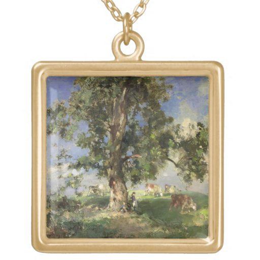 The Old Ash Tree (oil on canvas) Jewelry