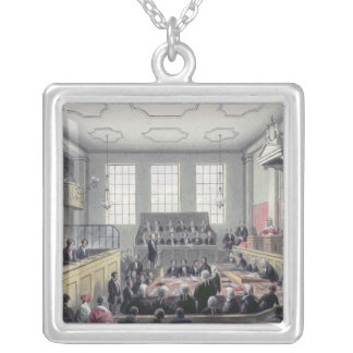 The Old Bailey, London Silver Plated Necklace