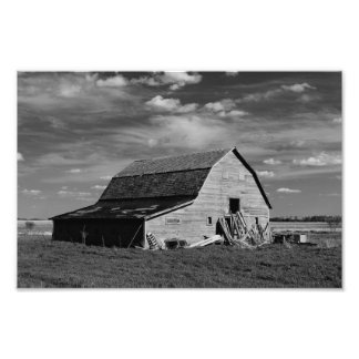 The Old Barn - Black & White Photographic Print