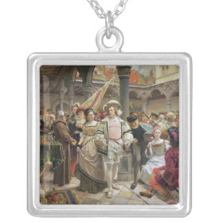 The Old Beurs at Antwerp, 1892 Silver Plated Necklace