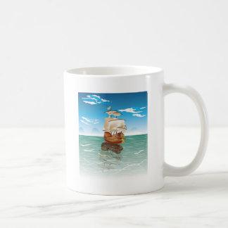 The old boat and the sea coffee mug
