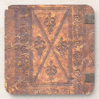 The Old Book Beverage Coaster