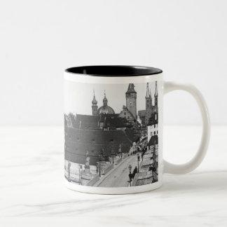 The old bridge over the River Main Two-Tone Coffee Mug